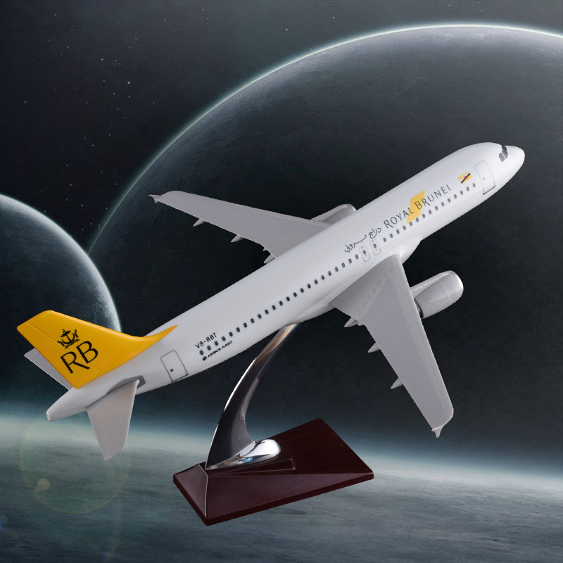 цена 37cm A320 Royal Brunei Airbus Plane Model Brunei Airlines RB International Airbus Aviation Resin Aircraft Model Collection Gift