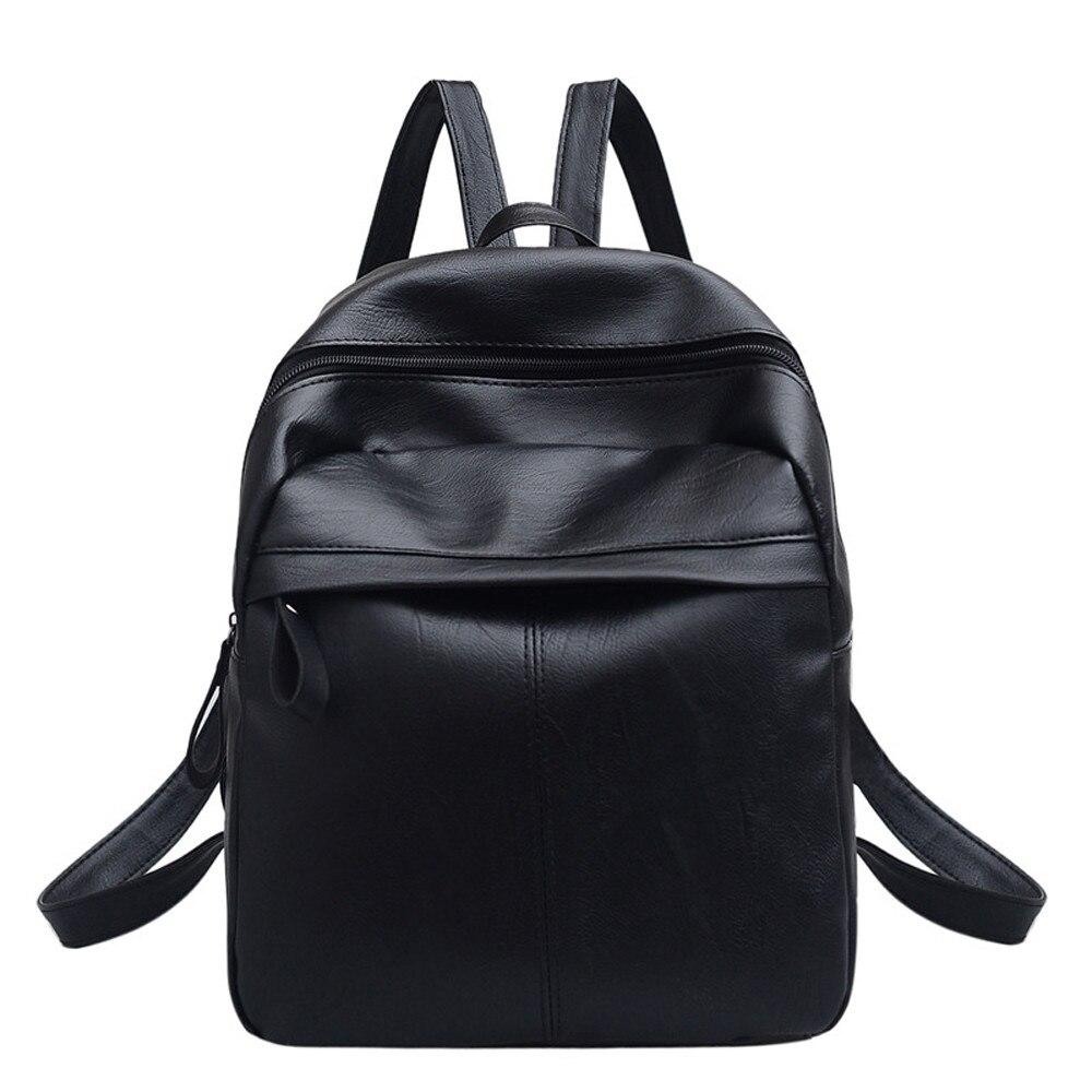 Sleeper #401 2019 NEW Women's Leather Backpack Satchel Travel School Rucksack Bag Black Black Bookbag Casual Hot Free Shipping
