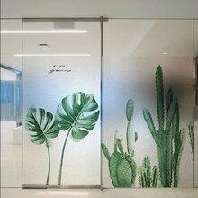Window Films Static electricity reusable sticker window glass film transparent opaque Bathroom frost toilet