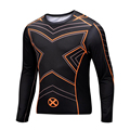 2016 New Fitness Compression Shirt Men Superman Bodybuilding Long Sleeve 3D T Shirt Crossfit Tops Shirts