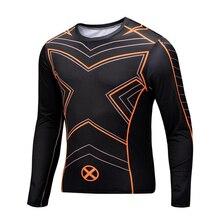 2016 New Fitness Compression Shirt Men Superman Bodybuilding Long Sleeve 3D T Shirt Crossfit Tops Shirts