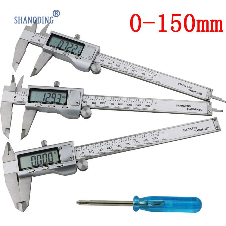 Digital Caliper 0-150mm/6 Stainless Steel Metal Casing Digital CALIPER VERNIER Caliper GAUGE MICROMETER Electronic Caliper