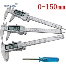 On sale Digital Caliper 0-150mm/6″ Stainless Steel Metal Casing Digital CALIPER VERNIER Caliper GAUGE MICROMETER Electronic Caliper