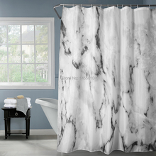 Happy Tree Fabric Polyester Classic Grey Marble Stripe Waterproof Shower Curtain Thicken Bathroom Curtain Gray Bath Curtain waterproof happy halloween ghost bath curtain