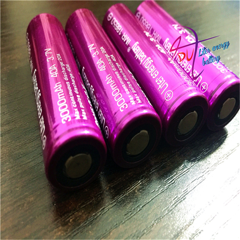 2PCS Electronic Cigarettes Rechargable 18650 Battery Liter energy battery 3000Mah 40A Battery AA For E-Cigarettes BOX MOD VAPE
