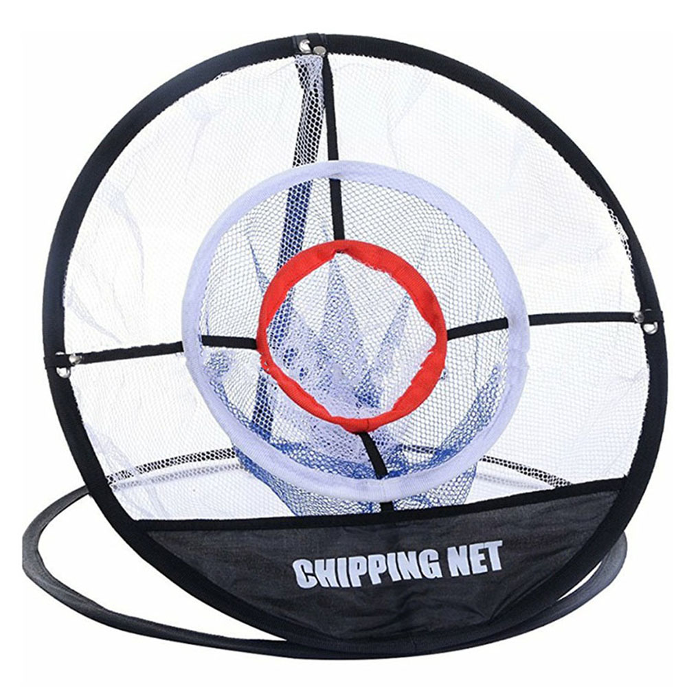 Golf Pop UP Indoor Outdoor Chipping Pitching Cages Mats Practice Easy Net Golf Training Aids Metal + Net