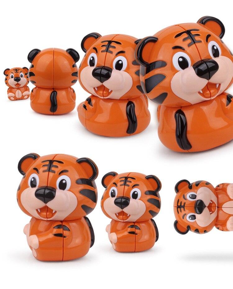 Tiger Magic Cube 2x2 Magic Cube ტვინის - ფაზლები - ფოტო 3