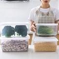 Большой Кухонный Контейнер для хранения  коробка для хранения чая  фруктов  продуктов питания  пластиковый прозрачный Чехол Контейнер для к...