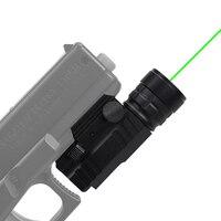 Tactical Green Laser Sight Fit 20 mm Rail Mount Pistol Handgun Gun Laser Hunting Accessories