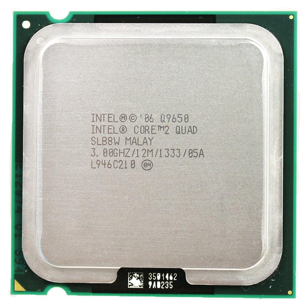 Intel core 2 quad processeur Q9650 Socket LGA 775 (3.0 Ghz/12 M/1333 GHz) Prise 775 Bureau CPU