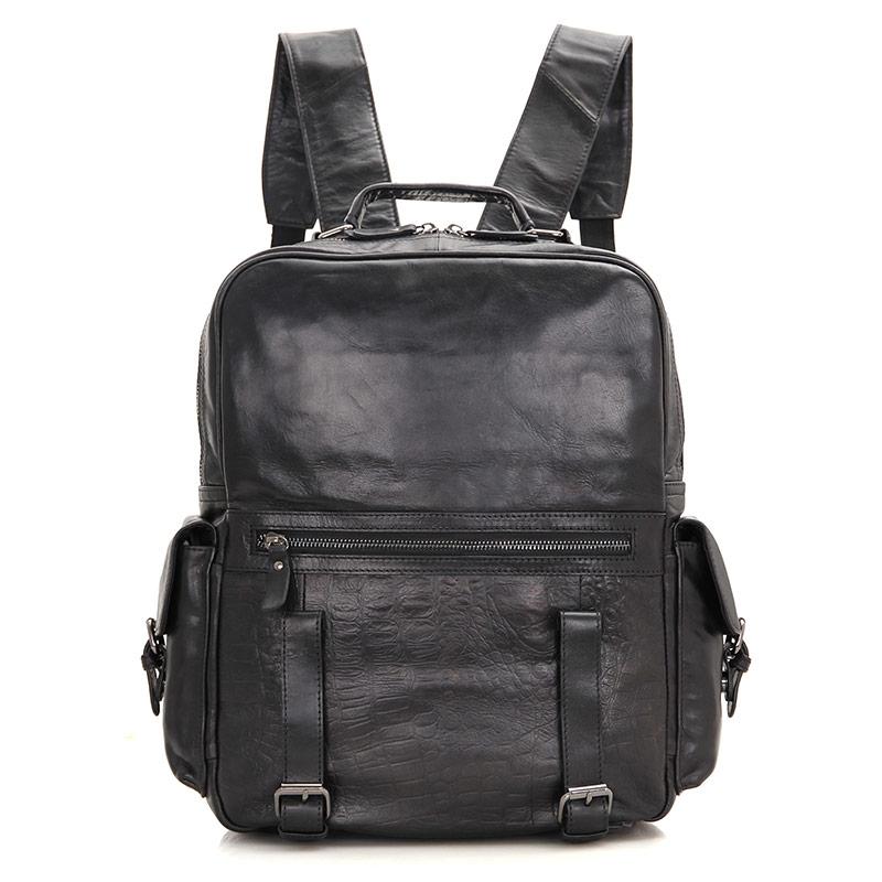 JMD 100% Genuine Cow Leather Mini Laptop Backpack School Bag For Women Satchels Bag 7355- jmd genuine cow leather mens laptop backpack for student school backpacks 7347c