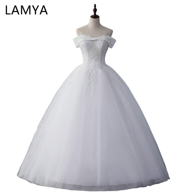 Aliexpress.com : Buy LAMYA Real Photo Vintage Ball Gown Lace V Neck ...