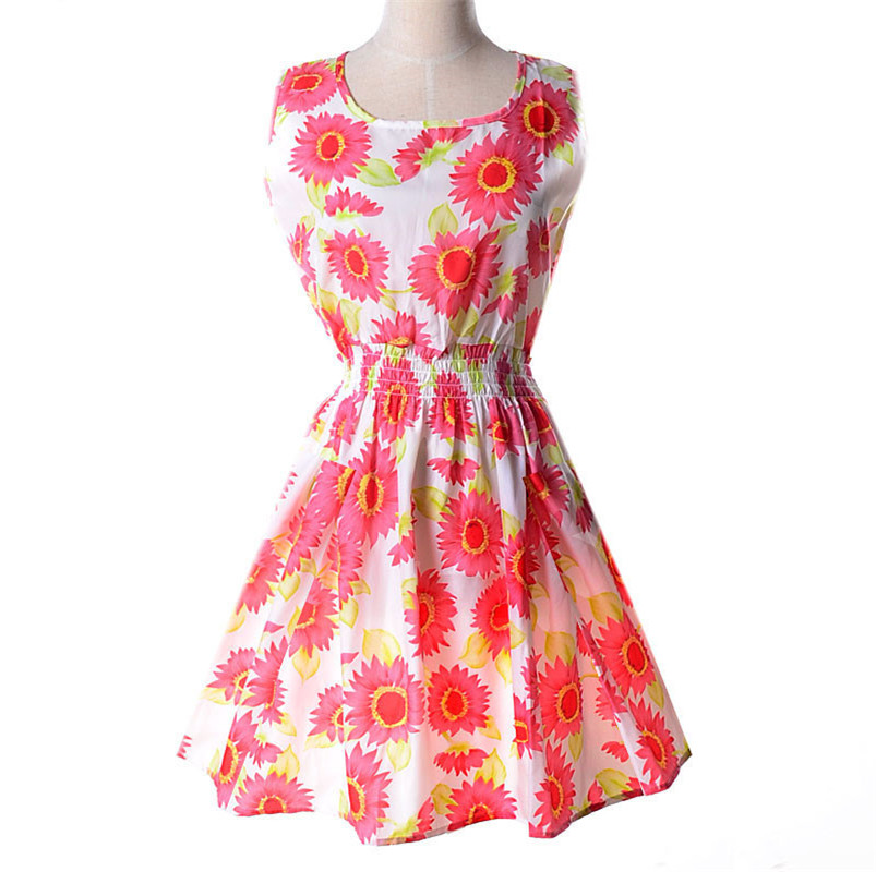 Woman Beach Dress Summer Boho Print Clothes Sleeveless Party Dress Casual Short Sundress Floral Dress Peacock Woman Beach Dress Summer Boho Print Clothes Sleeveless Party Dress Casual Short Sundress Floral Dress Peacock Feathers Dresses