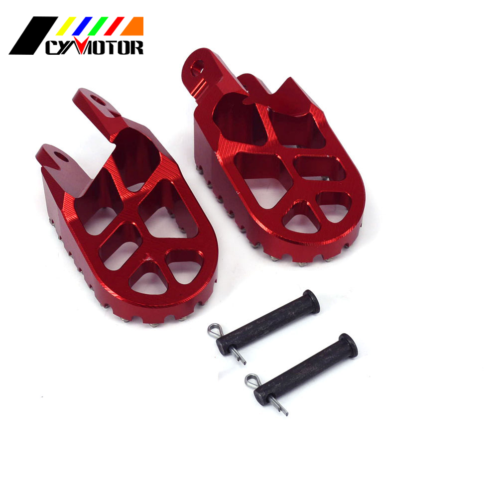 CNC Motorbike Foot Pegs Motorcycle Footpeg For HONDA CR80 XR250 XR400 XR350R XR600R XR650L XR650R CR 85 XR 250 450 350R 600R 16 holes portable professional oil painting brush watercolor brush case knife paper pen case drawing set acrylic set bag only