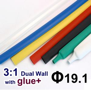 1.22meter/lot 19.1mm 3:1 Dual Wall Heat Shrink Tube with thick Glue heatshrink Tubing Adhesive Lined Cable Sleeve Wrap Wire kits(China)
