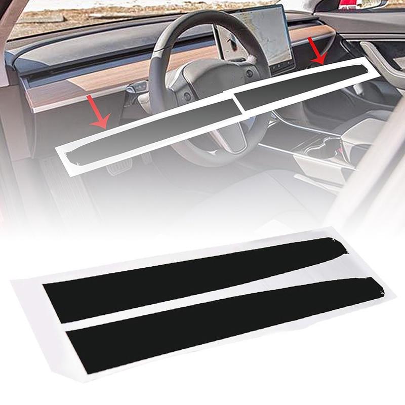 Image 2 - Для Tesla модель 3 Внутренняя крышка стикер комплект из углеродного волокна прочный комплект Замена-in Наклейки на автомобиль from Автомобили и мотоциклы