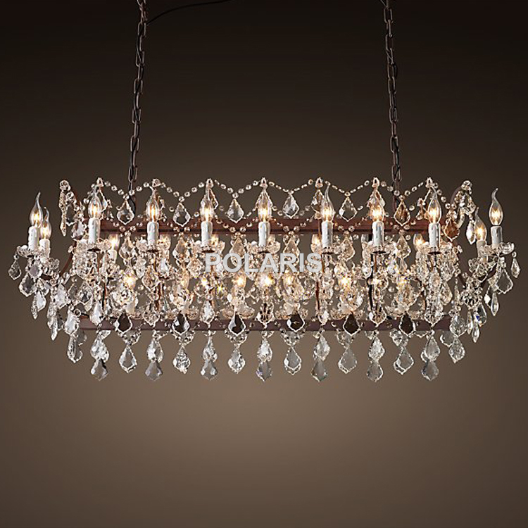 Iluminação Lustre de Cristal do vintage Rústico Vela Lustres Luminária Suspensão Luz para Casa e Restaurante