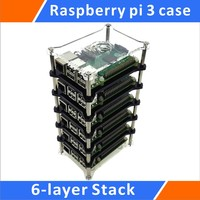 Raspberry Pi 3 Model B 6 Layer Stack Clear Case Support Raspberry Pi 2B B B