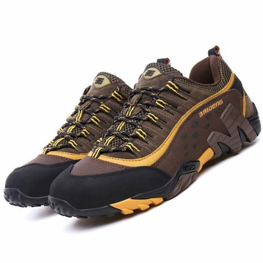 genuine leather waterproof outdoor sport men running shoes sneakers for men travel walking training shoes men running sneakers