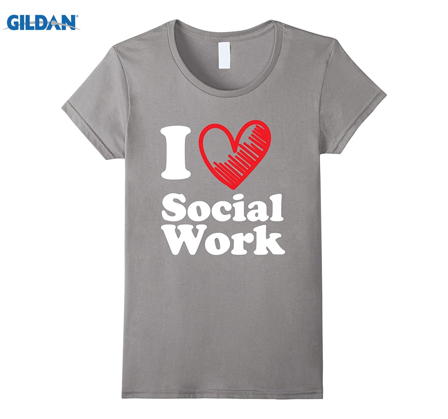 GILDAN I Love Heart Social Work Shirt Support Help Career T-Shirt ...