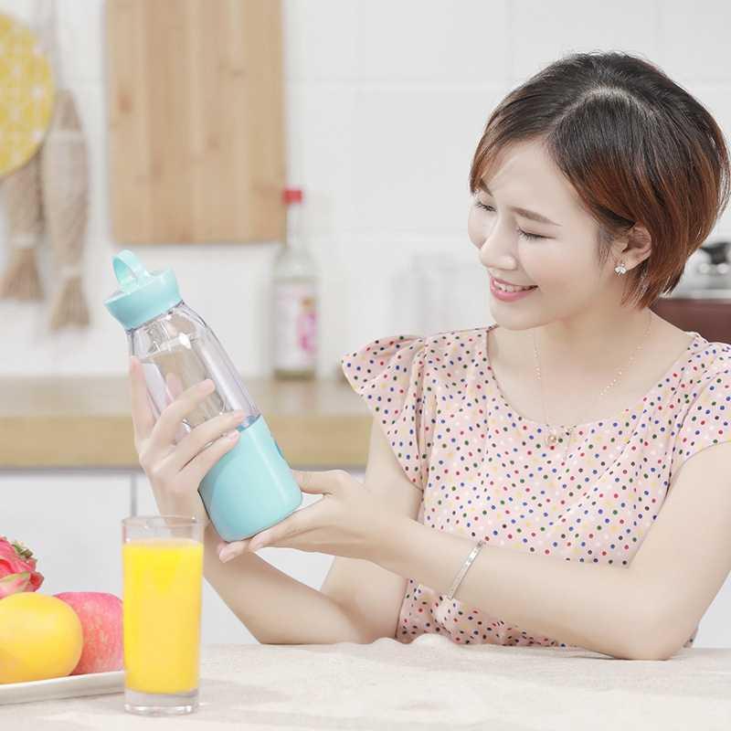 Egogo copo espremedor elétrico mini portátil usb recarregável liquidificador fabricante shaker espremedores de frutas laranja extrator 6 folha lâmina bl