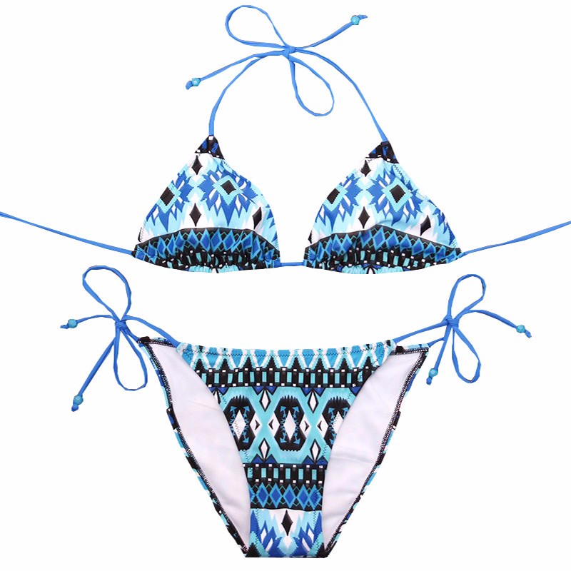 NAKIAEOI Sexy Bikinis Women Swimsuit 2018 Beach Wear Bathing Suit Push Up Swimwear Female Printed Brazilian Bikini Set Swim Wear 5