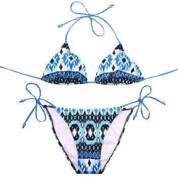 NAKIAEOI Sexy Bikinis Women Swimsuit 2018 Beach Wear Bathing Suit Push Up Swimwear Female Printed Brazilian Bikini Set Swim Wear 5