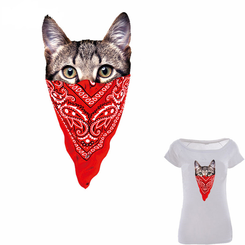 10pcs lot Cute Cat Iron On Patches For Clothes A level Washable Patch Print On T shirt Dresses Sweater Heat Transfer Appliqued in Patches from Home Garden