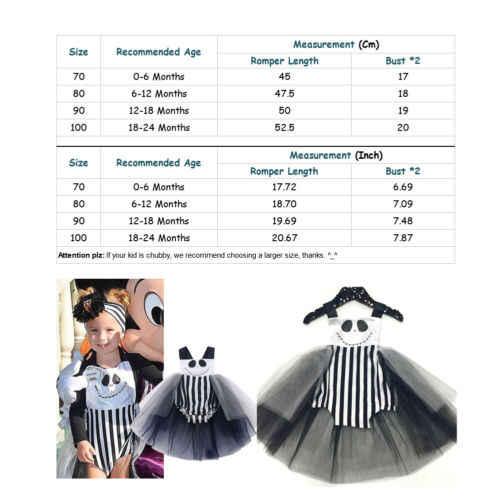 2018 Одежда для новорожденных; для девочек на Хэллоуин, черный костюм в полоску в юбка-пачка комбинезон, костюм милая праздничная одежда на возраст от 0 до 24 месяцев, 45