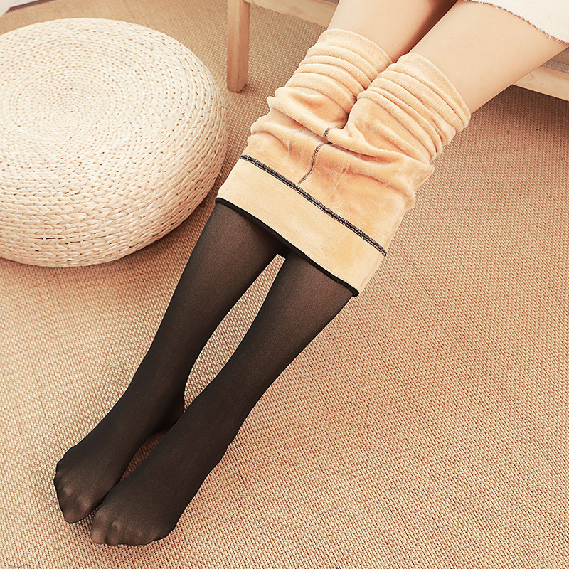 2018 Autumn And Winter Skin Permeable Thick Fake Transparent Meat High Waist Warm Tights Pantyhose 80g 200g 300g 1pcs