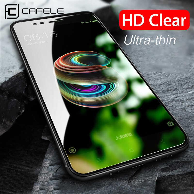 CAFELE Tempered Glass for Xiaomi mi 8 6 mix 2 2s A1 5X Screen Protector 2.5D HD Clean Protective Glass Film