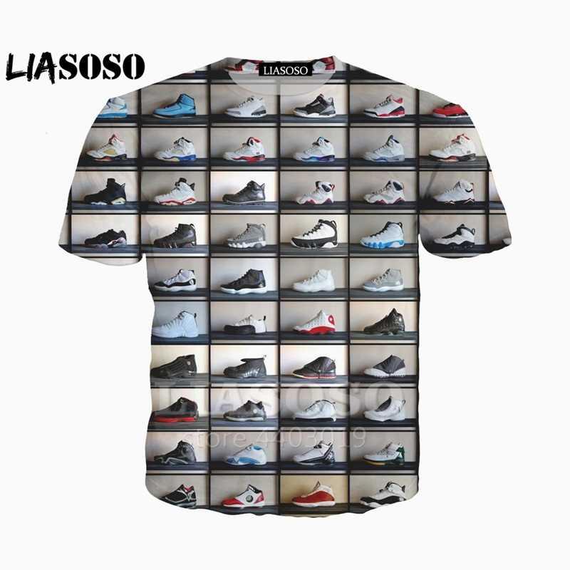 18fc838834c LIASOSO New Classic Jordan shoes Tees 3D Print t shirt/Hoodie/Sweatshirt  Unisex Funny