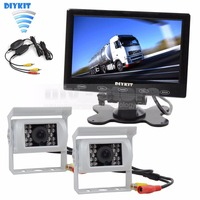 7 Inch Touch Car Monitor Backup CCD Waterproof Camera Rear View Kit For Horse Trailer Motorhome