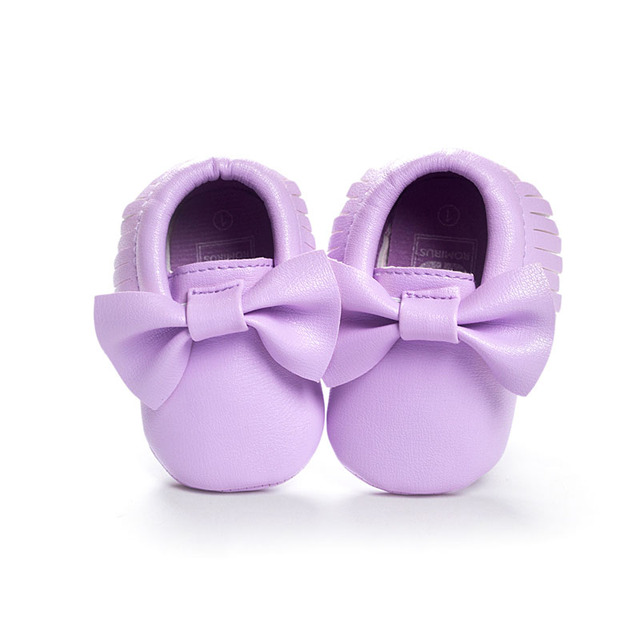 16 Colors Brand Spring Baby Shoes PU Leather Newborn Boys Girls Shoes First Walkers Baby Moccasins 0-18 Months 2