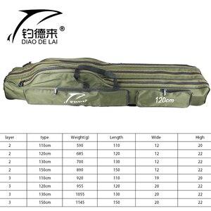 Image 5 - حقيبة محمولة قابلة للطي لحمل قضيب صيد الأسماك حقيبة تخزين لأدوات قطب الأسماك