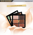 Original Brand 6 Color Concealer Cover Dark Circle Waterproof Face Makeup Create 3D Face Contour Palette Highlighter Cream