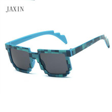 JAXIN Fashion child mosaic sunglasses Kids personality trend square baby atmosphere eye protection boy glasses UV400