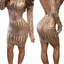 c0f696159c Buy rose gold sequin bodycon dress and get free shipping on ...
