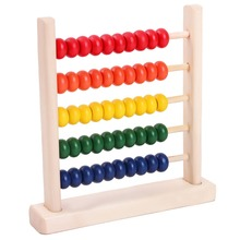 2016 New Colorful 5-Row Bead Wooden Abacus Child educationnal Calculate Math Learning Teaching Tool Kid baby Toy for children