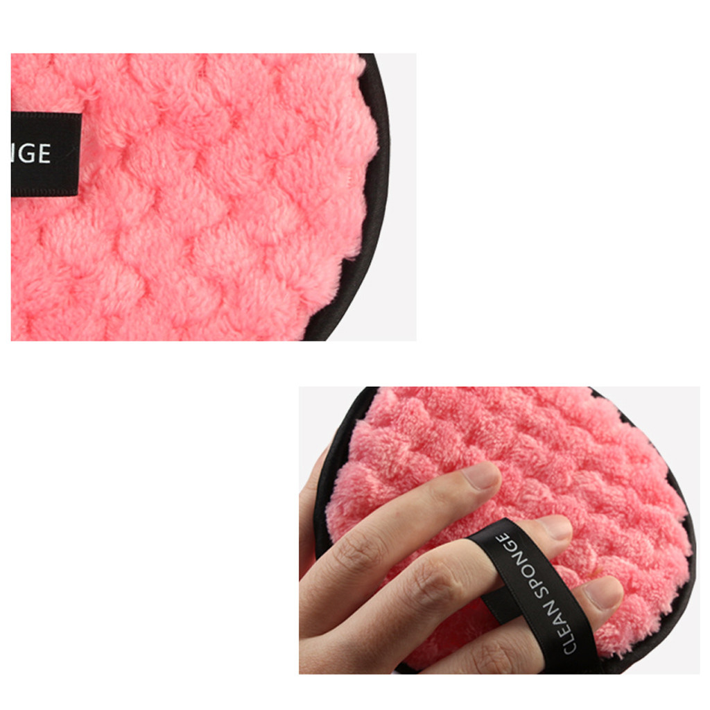 1/2PCS Soft Makeup Remover Towel Fashion Face Cleaner Plush Puff Reusable Cleansing Cloth Pads Foundation Face Skin Care Tools 5