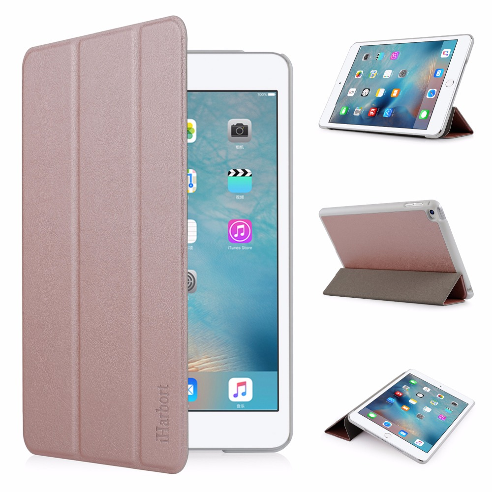Stand Case for iPad mini 4, iHarbort PU Leather Case smart Cover with Multi-Angles holder With Sleep/ Wake Up Function multi function pu leather case vent holes sound amplifier for ipad 3 4 red