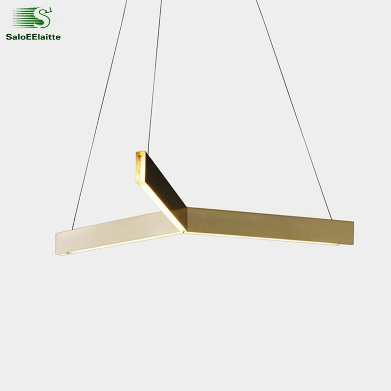Post Modern Lustre Gold Met Led Pendant Lights Living Room Led Triangle Hanging Light Dining Room Led Pendant Lamp Fixtures modern led pendant lights hanging lamp dining room living room crystal pendant light modern lamps lustre lighting led pendant