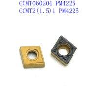 כלי קרביד מחרטה CCMT060204 PM 4225 Internal מפנה באיכות גבוהה כלי קרביד הכנס CNC מחרטה כלי הפיכת Blade (5)