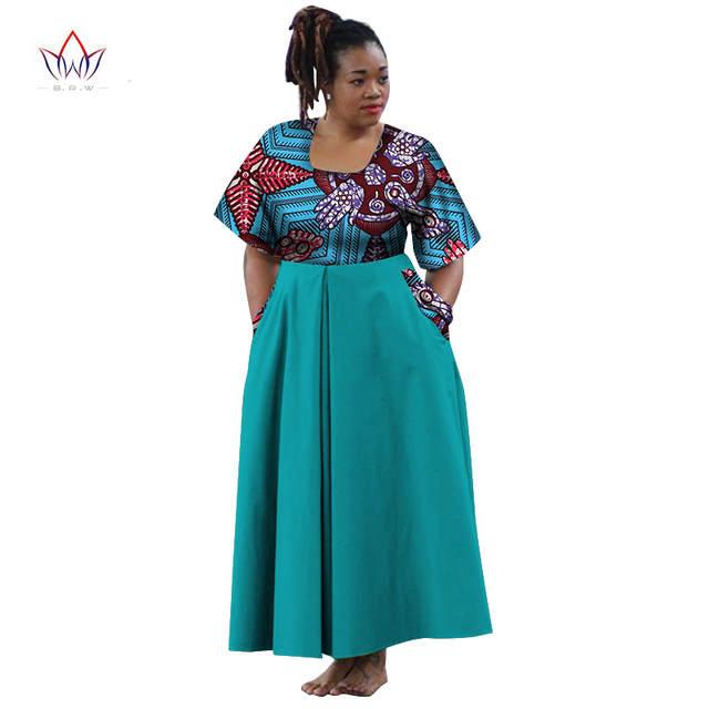 placeholder African Dresses Half Sleeve Sexy Dress With Pocket Maxi Dress  Women Dashiki African Print Wax Women 05b9f13b2ad7