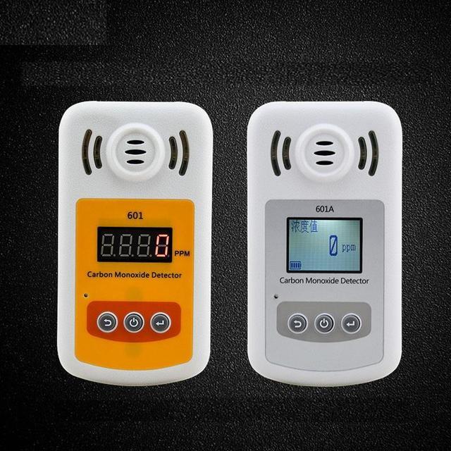 Detector de monóxido de carbono alarme de Gás detector portátil de gás tóxico alarme som e luz
