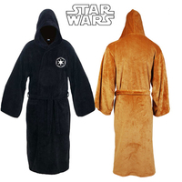 2019 New Star Wars Jedi Knight Robe Deluxe Bath Robe Darh Vader Cosplay Costume Brown Robe Gown Sleeping Wear Chewbacca Cosplay
