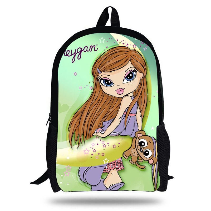 4cbfdf17a4e8 Школьные сумки для девочек-подростков, детские рюкзаки, детская школьная  сумка с рисунком Bratz