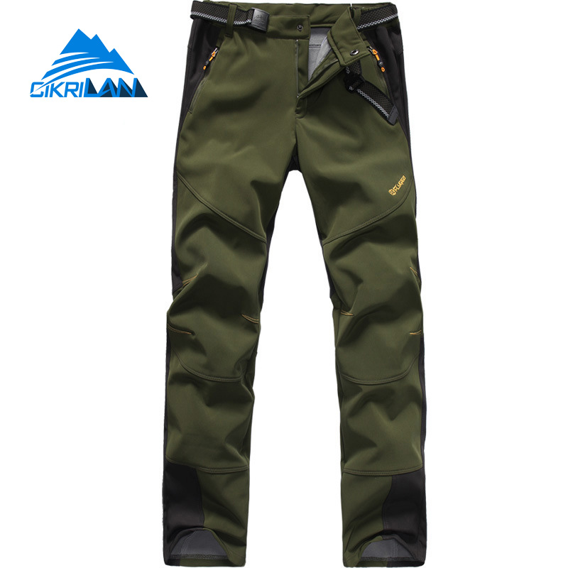 Hot Sale Softshell Pantalones Senderismo Hombre Sport Pants Men Windbreaker Water Resistant Hiking Camping Outdoor Trousers hot sale water resistant outdoor sport hiking camping trousers warm softshell pants women windproof climbing pantalones mujer