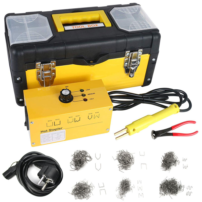 Car Bumper Repair Plastic Welder Kit 110V 220V Hot Stapler Plastic Welding With 600Pcs Welding Nails