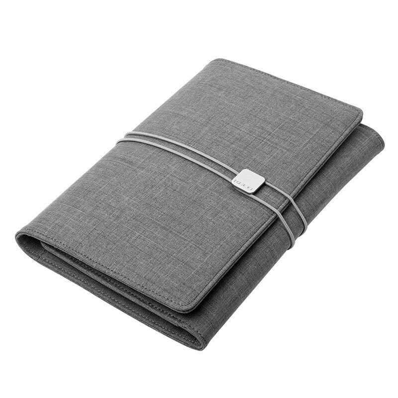 A5 Business Notebook blanc Journal de réunion Journal cadeau à feuilles mobiles spirale lié couverture étanche avec stylo